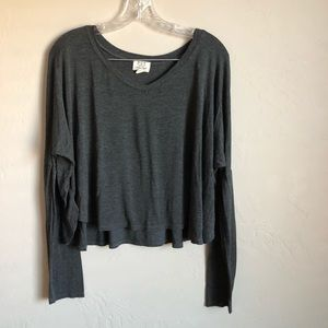 **Host Pick** Project Social T Gray Cropped Top
